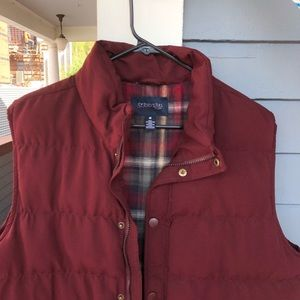 Red flannel Vest (St John's Bay)